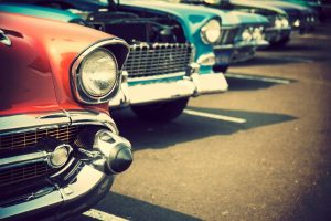 cars at a parking lot