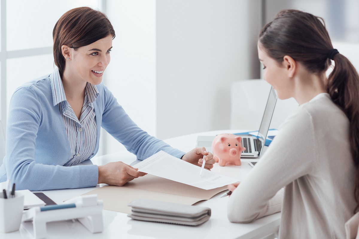 financial advisor talking to a client
