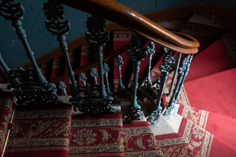 old stair rug