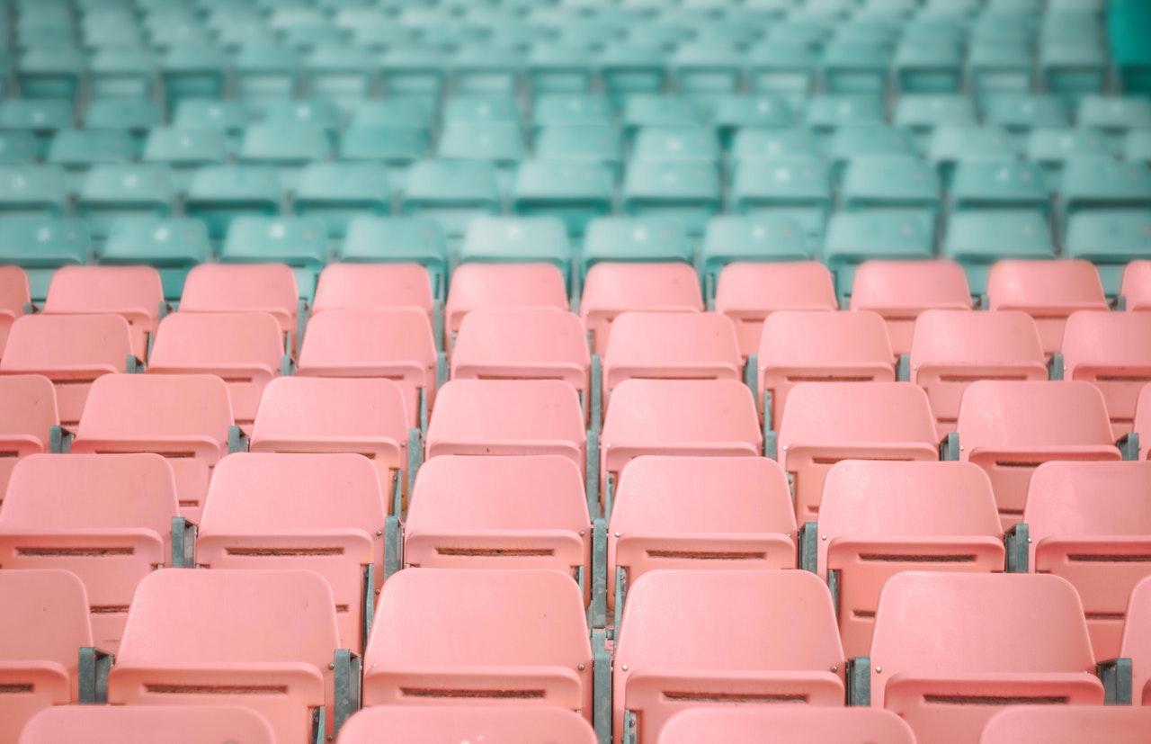 plastic stadium chairs