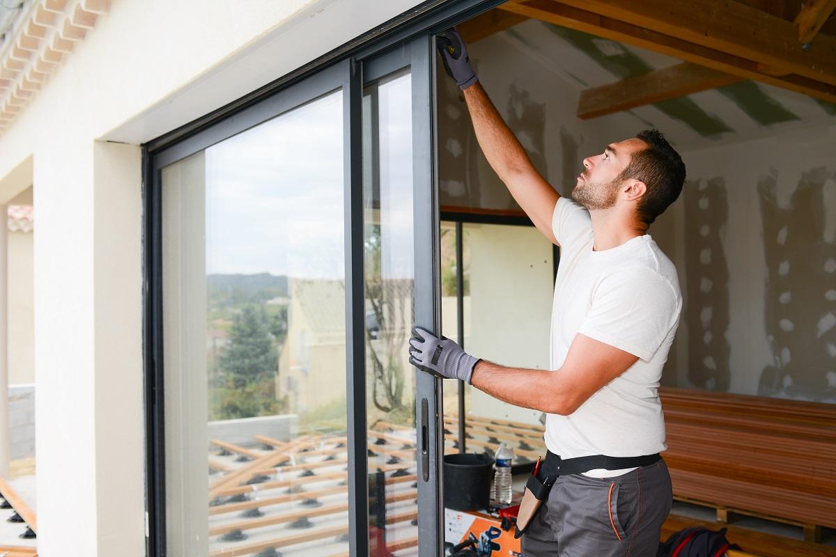 installing a glass door